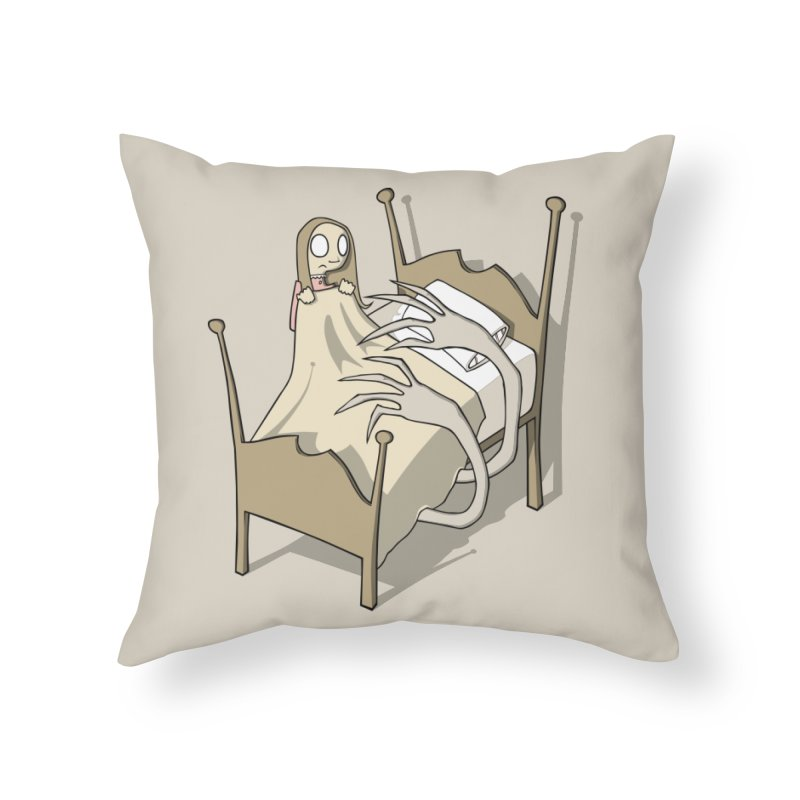 Bedtime Home Throw Pillow by facebunnies's Artist Shop