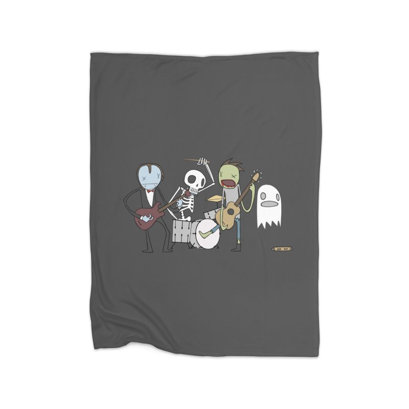 ..The Dead Will Rock The Earth Home Blanket by facebunnies's Artist Shop