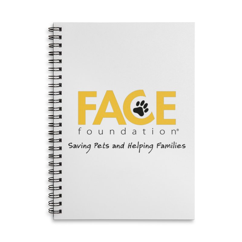 FACE Logo Accessories Lined Spiral Notebook by FACE Foundation's Shop