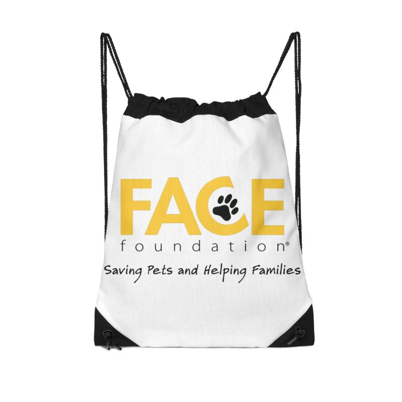 FACE Logo Accessories Drawstring Bag Bag by FACE Foundation's Shop