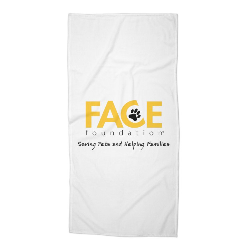 FACE Logo Accessories Beach Towel by FACE Foundation's Shop