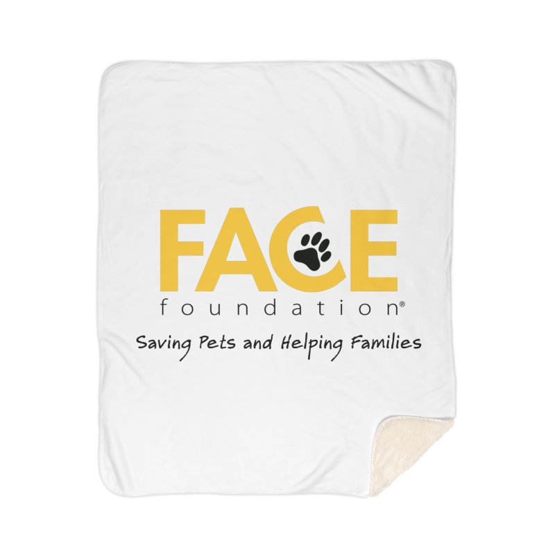 FACE Logo Home Sherpa Blanket Blanket by FACE Foundation's Shop