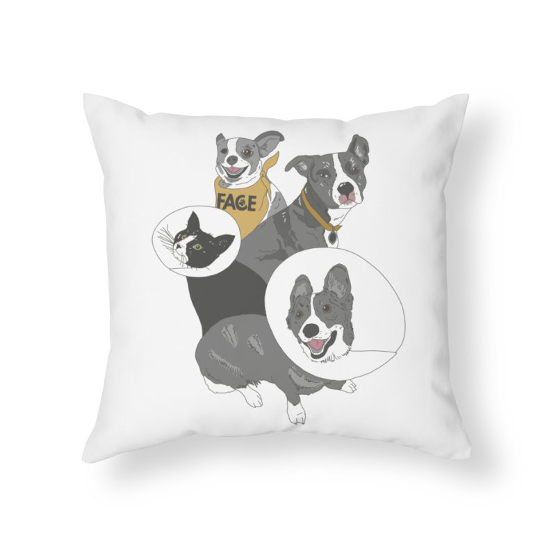 FACE Crew Home Throw Pillow by FACE Foundation's Shop