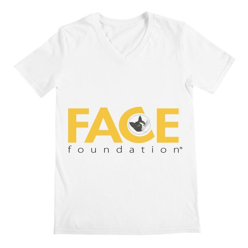 FACE Kitty Logo Men's Regular V-Neck by FACE Foundation's Shop