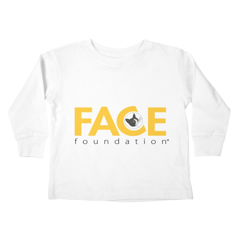 FACE Kitty Logo Kids Toddler Longsleeve T-Shirt by FACE Foundation's Shop