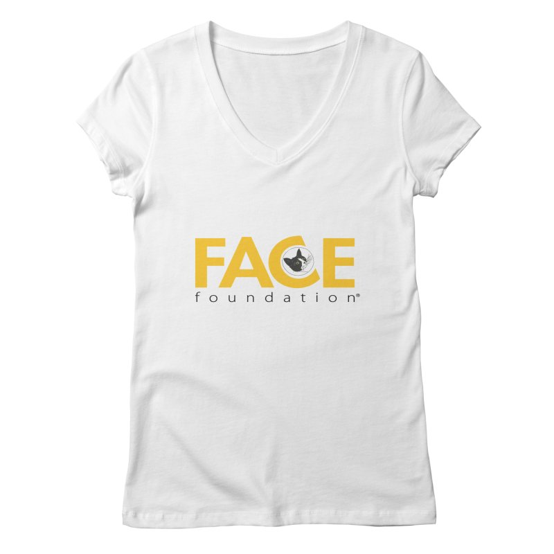 FACE Kitty Logo Women's Regular V-Neck by FACE Foundation's Shop