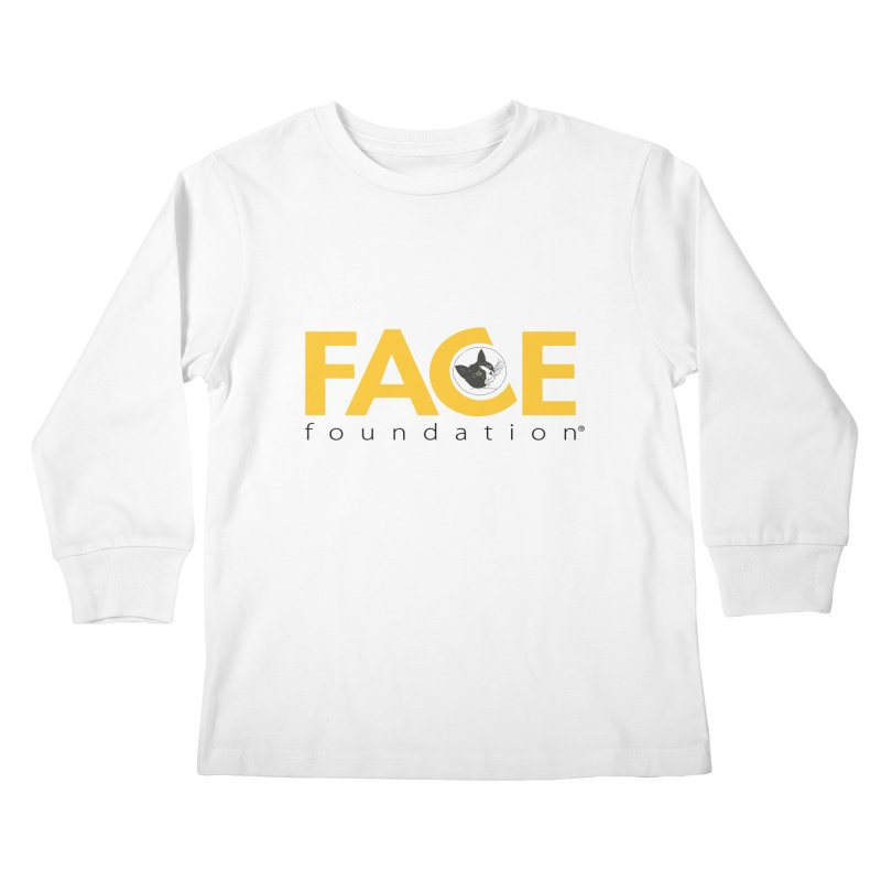 FACE Kitty Logo in Kids Longsleeve T-Shirt White by FACE Foundation's Shop