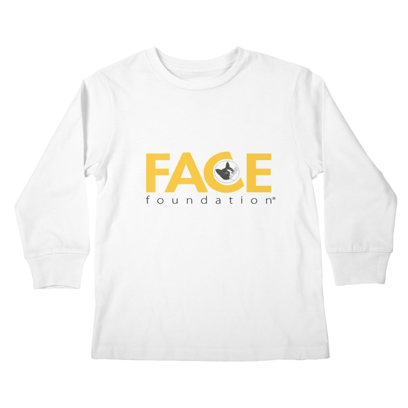FACE Kitty Logo Kids Longsleeve T-Shirt by FACE Foundation's Shop