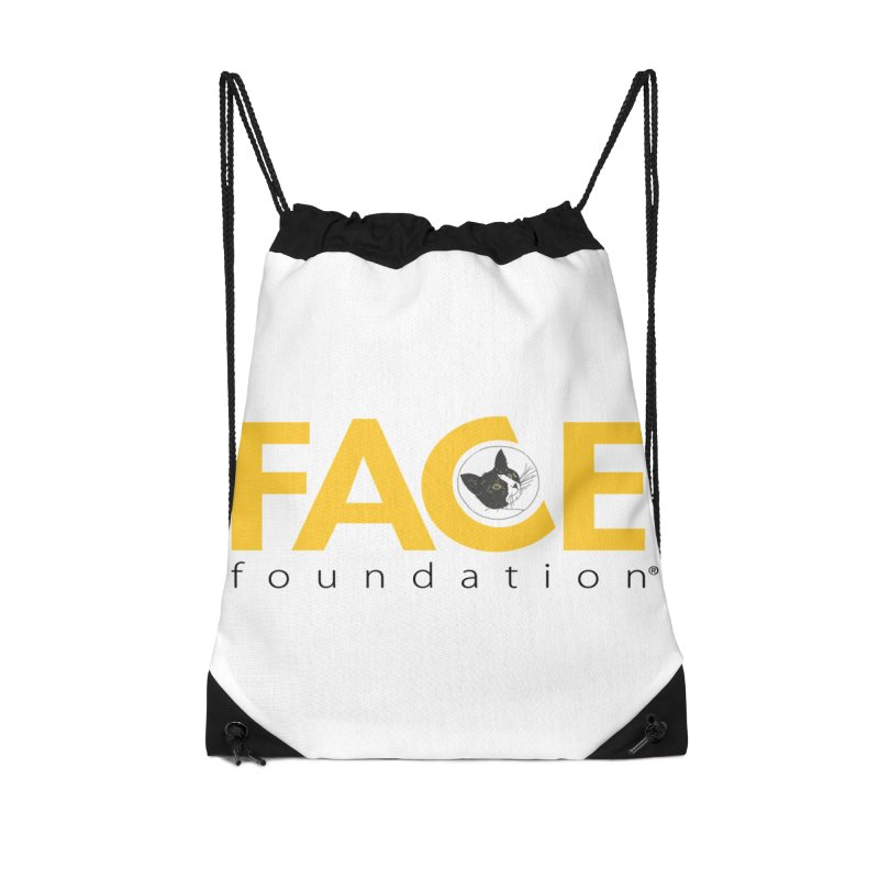 FACE Kitty Logo Accessories Drawstring Bag Bag by FACE Foundation's Shop