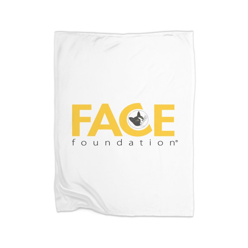 FACE Kitty Logo Home Fleece Blanket Blanket by FACE Foundation's Shop