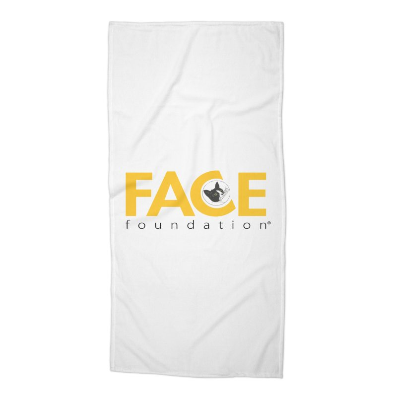 FACE Kitty Logo Accessories Beach Towel by FACE Foundation's Shop