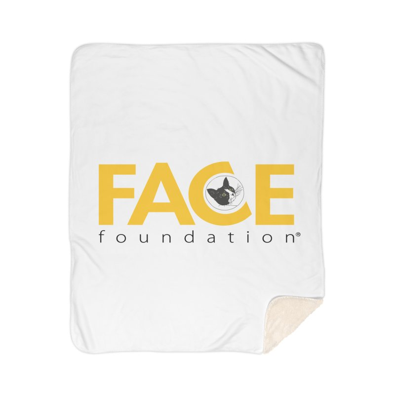 FACE Kitty Logo Home Sherpa Blanket Blanket by FACE Foundation's Shop