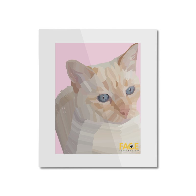 Boo Home Mounted Aluminum Print by FACE Foundation's Shop