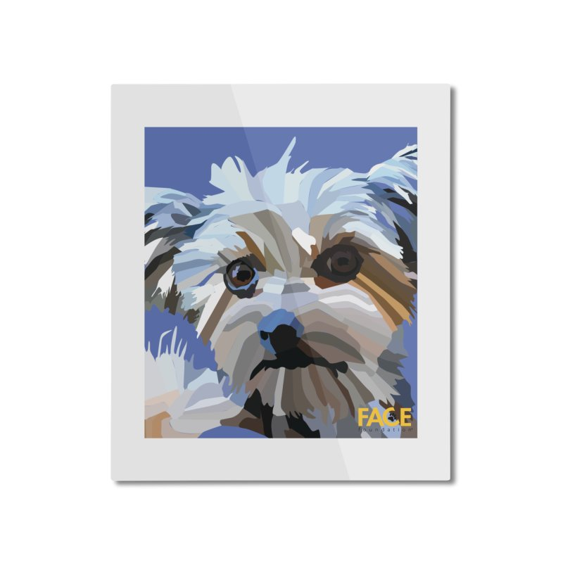 Baby Home Mounted Aluminum Print by FACE Foundation's Shop