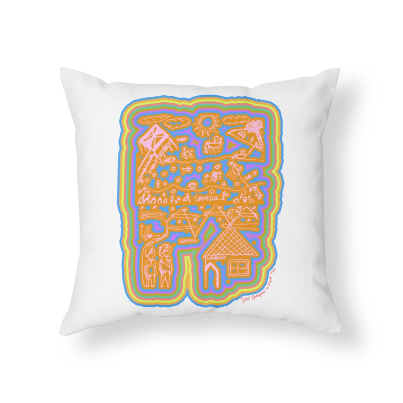 Tyler Spangler x Samsul x Face This T-shirt Home Throw Pillow by Face This T-shirts