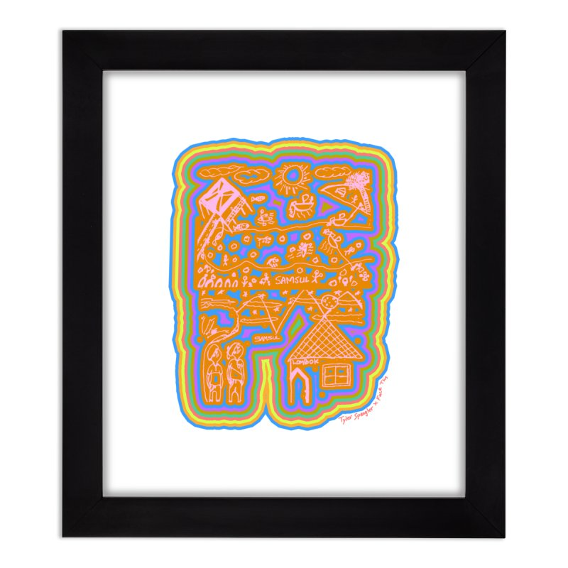 Tyler Spangler x Samsul x Face This T-shirt Home Framed Fine Art Print by Face This T-shirts