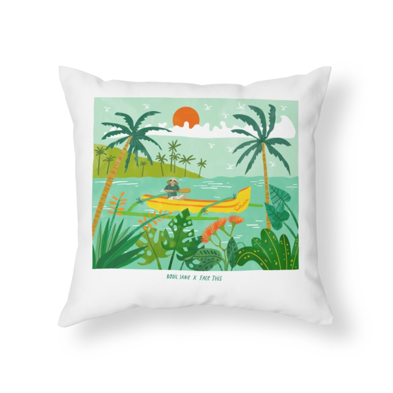 Bodil Jane x Salsabila x Face This T-shirt Home Throw Pillow by Face This T-shirts