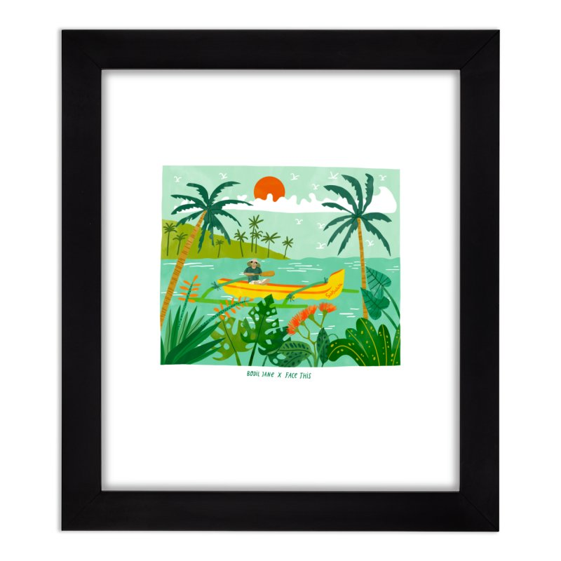 Bodil Jane x Salsabila x Face This T-shirt Home Framed Fine Art Print by Face This T-shirts