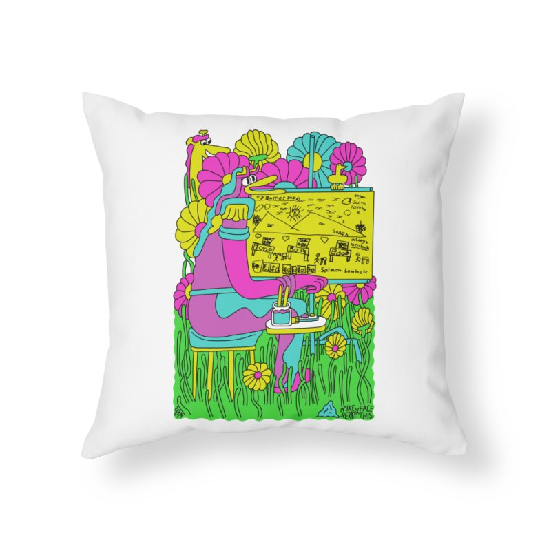 Mike Perry x Shafa x Face This T-shirt Home Throw Pillow by Face This T-shirts