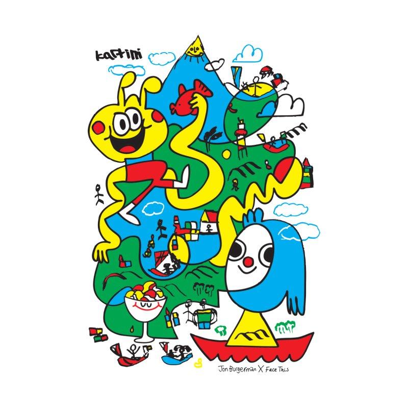 Jon Burgerman x Kartini x Face This T-shirt Kids T-Shirt by Face This T-shirts
