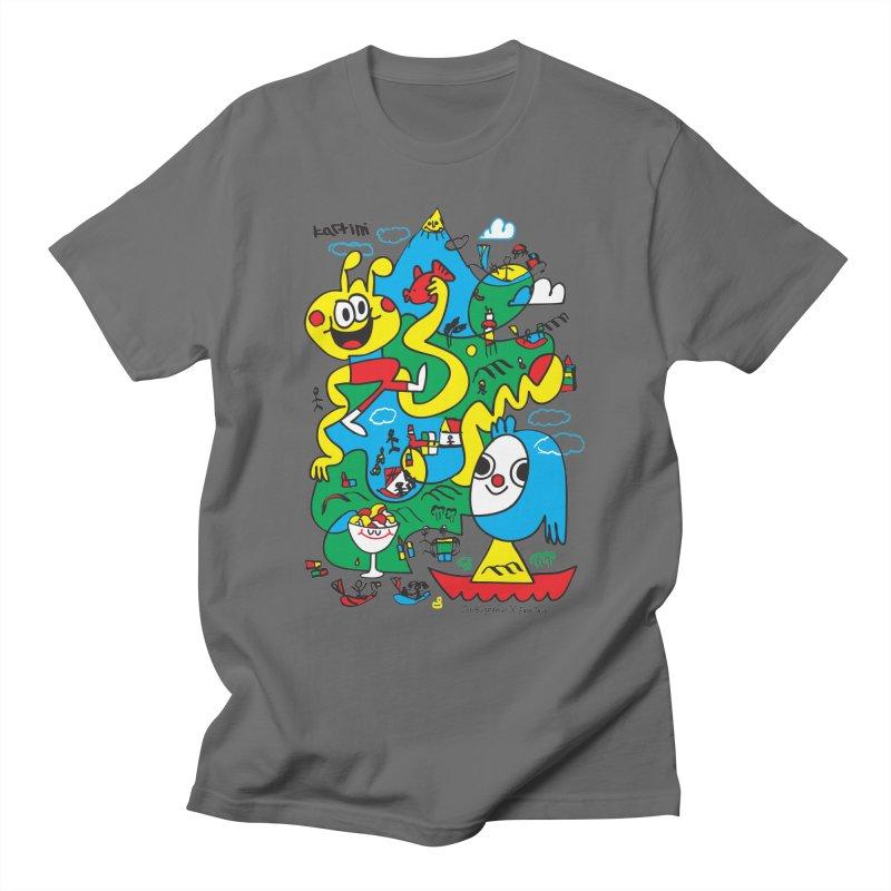 Jon Burgerman x Kartini x Face This T-shirt Men's T-Shirt by Face This T-shirts