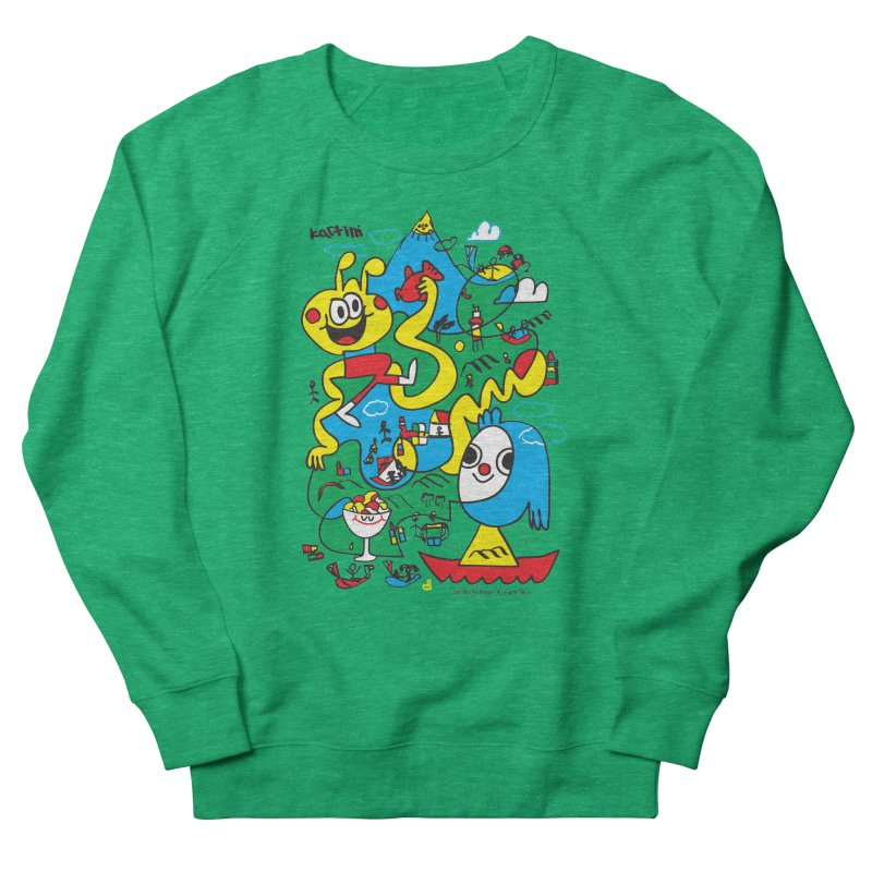 Jon Burgerman x Kartini x Face This T-shirt Women's Sweatshirt by Face This T-shirts