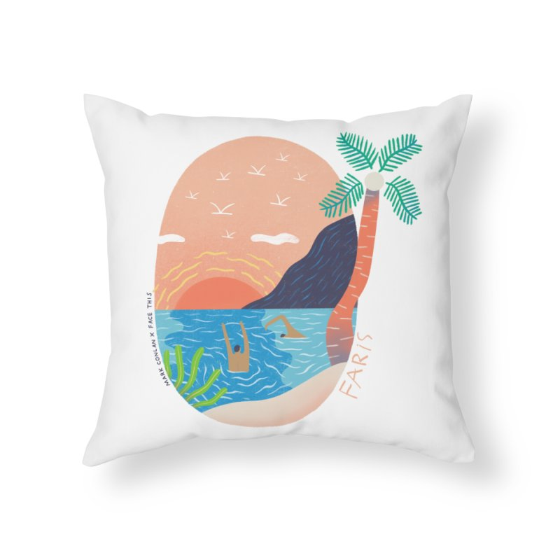 Mark Conlan x Faris x Face This T-shirts Home Throw Pillow by Face This T-shirts