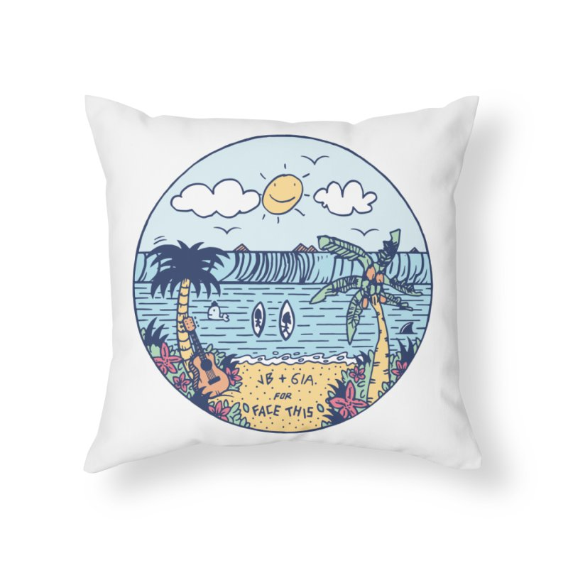 Jamie Browne x Gia x Face This T-shirts Home Throw Pillow by Face This T-shirts