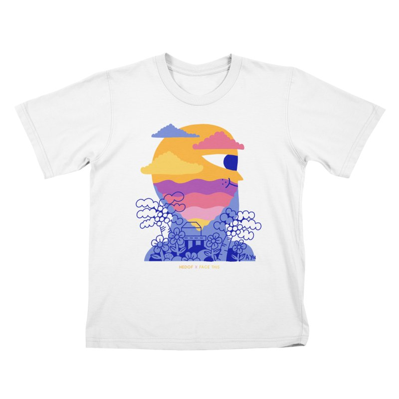 Hedof x Ayu x Face This T-shirts Kids T-Shirt by Face This T-shirts