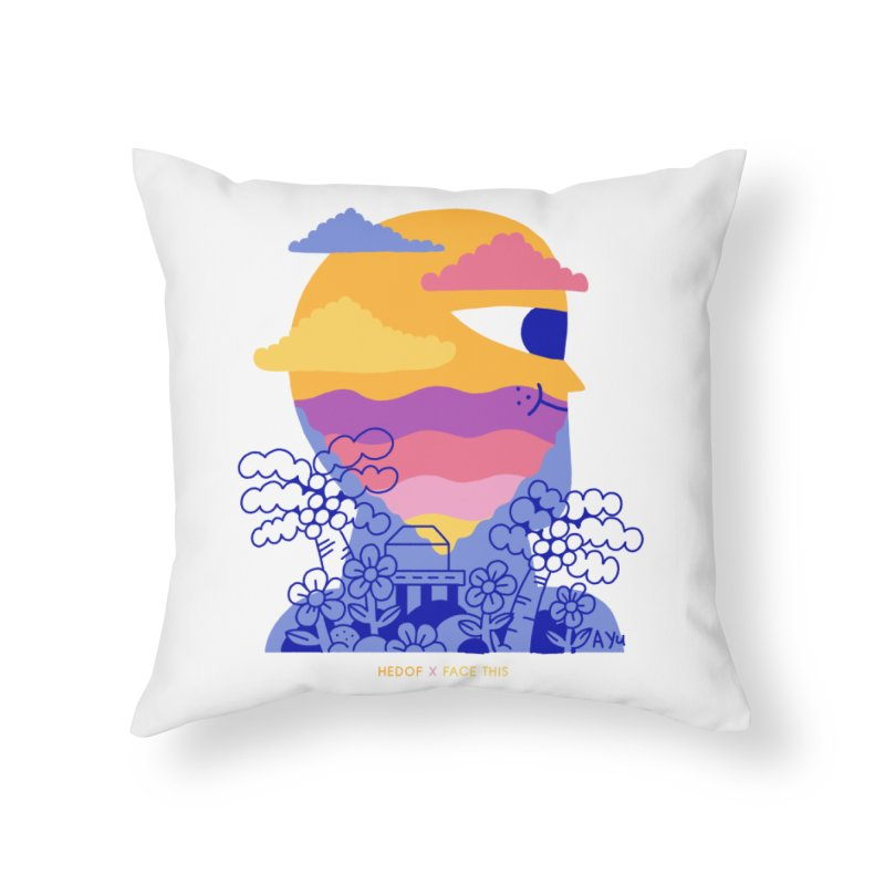 Hedof x Ayu x Face This T-shirts Home Throw Pillow by Face This T-shirts