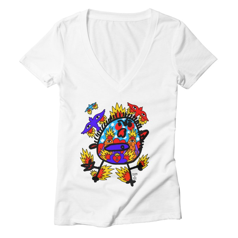 Ricardo Cavolo x Face This T-shirt Women's V-Neck by Face This T-shirts