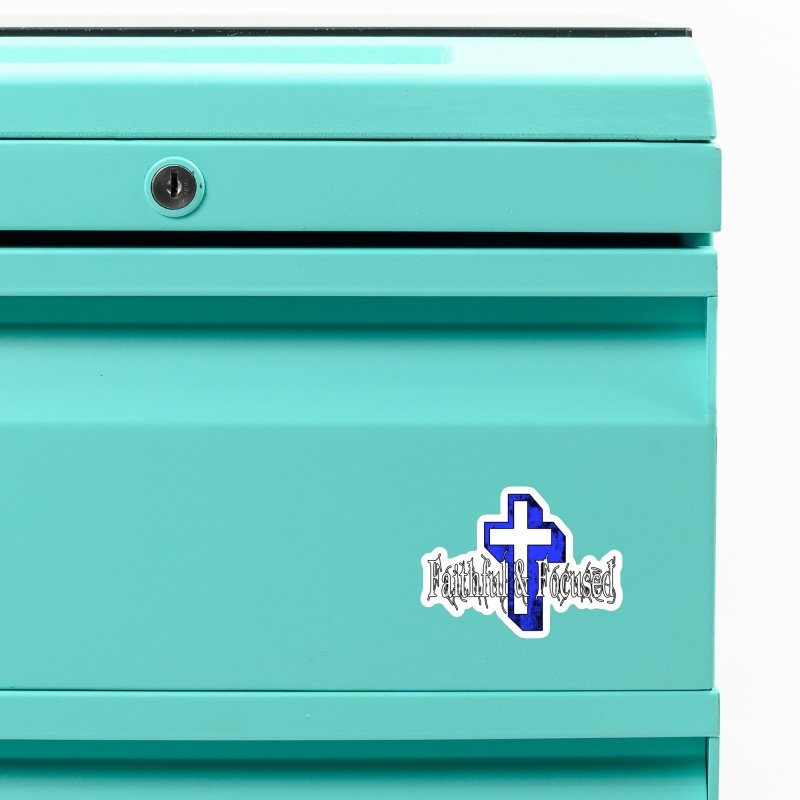 Blue Cross Accessories Magnet by Faithful & Focused Store