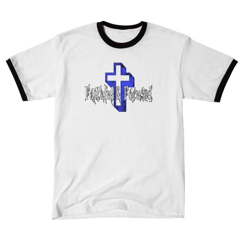 Blue Cross Men's T-Shirt by Faithful & Focused Store