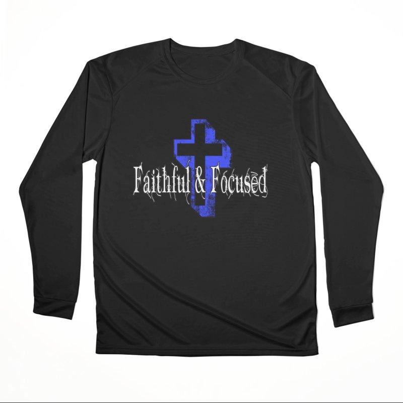 Blue Cross Men's Longsleeve T-Shirt by Faithful & Focused Store