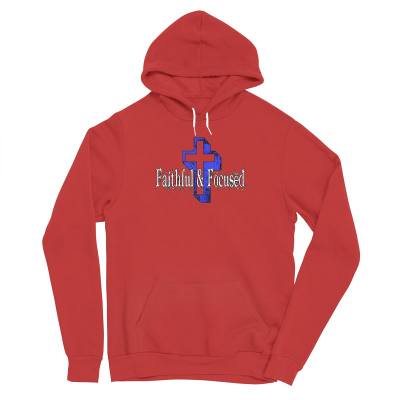 Blue Cross Men's Pullover Hoody by Faithful & Focused Store