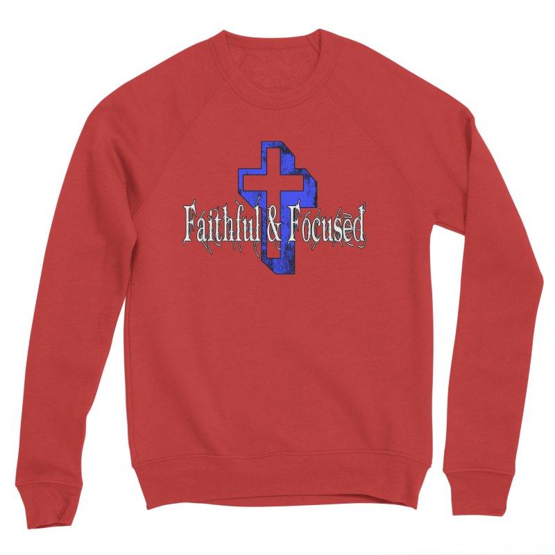 Blue Cross Men's Sweatshirt by Faithful & Focused Store