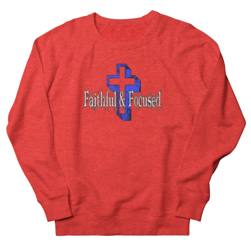 Blue Cross Women's Sweatshirt by Faithful & Focused Store