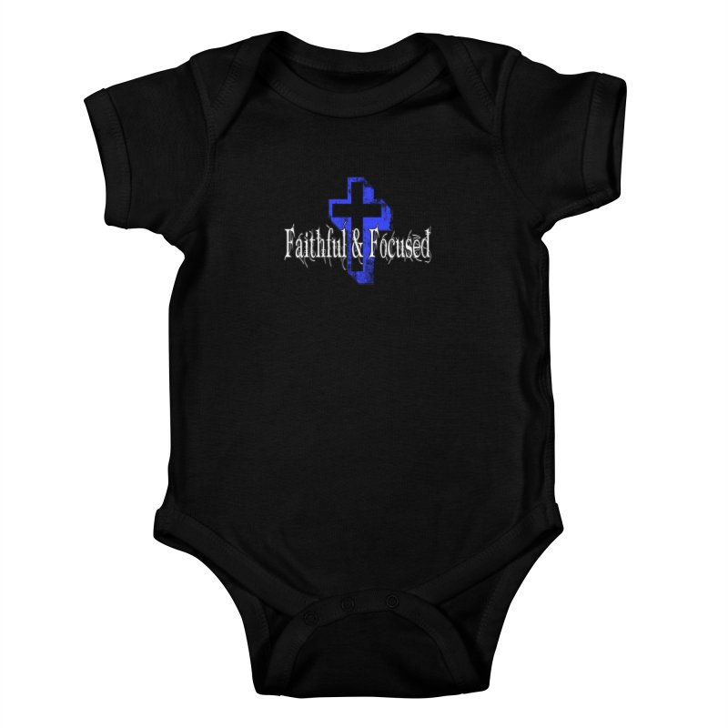 Blue Cross Kids Baby Bodysuit by Faithful & Focused Store