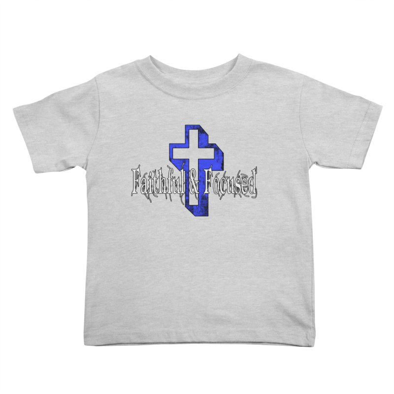 Blue Cross Kids Toddler T-Shirt by Faithful & Focused Store