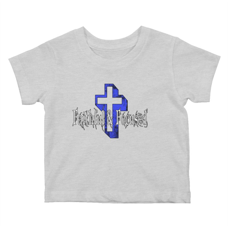 Blue Cross Kids Baby T-Shirt by Faithful & Focused Store