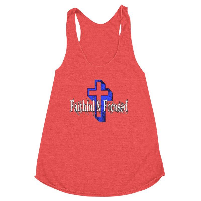 Blue Cross Women's Tank by Faithful & Focused Store
