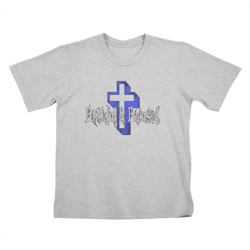Blue Cross Kids T-Shirt by Faithful & Focused Store