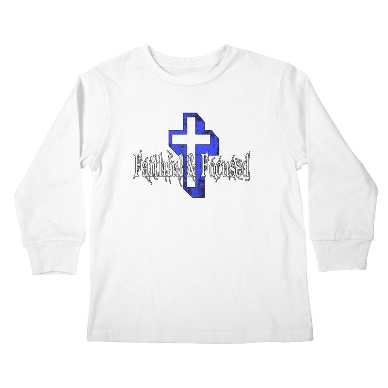 Blue Cross Kids Longsleeve T-Shirt by Faithful & Focused Store