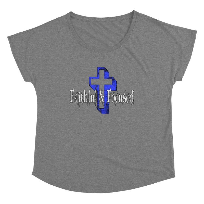 Blue Cross Women's Scoop Neck by Faithful & Focused Store