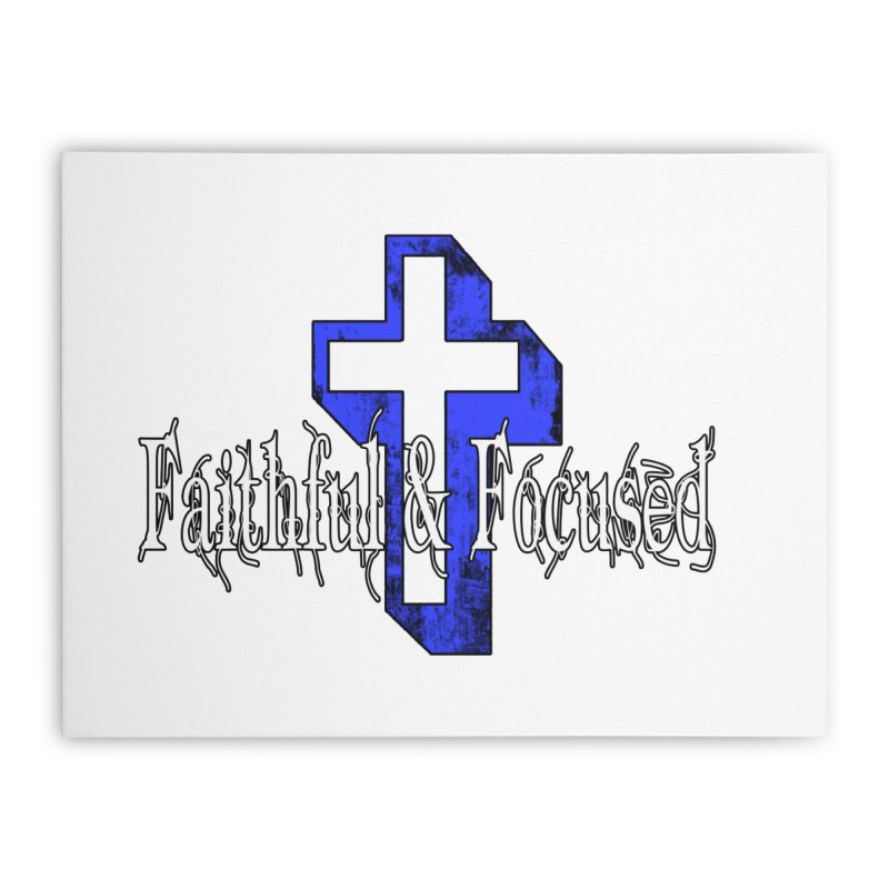 Blue Cross Home Stretched Canvas by Faithful & Focused Store