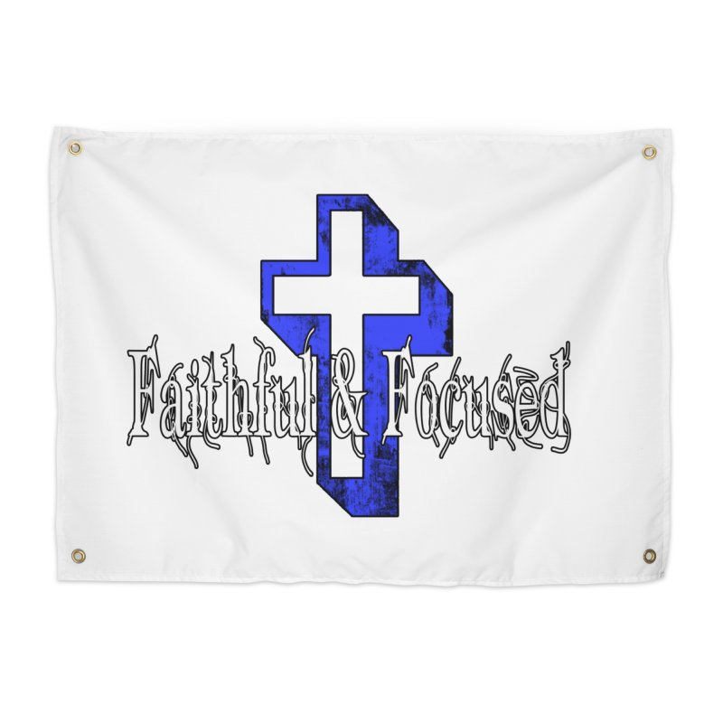 Blue Cross Home Tapestry by Faithful & Focused Store