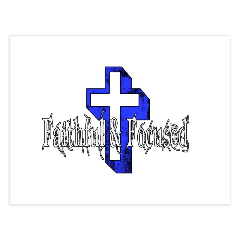 Blue Cross Home Fine Art Print by Faithful & Focused Store