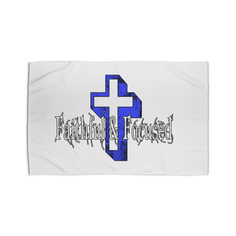 Blue Cross Home Rug by Faithful & Focused Store