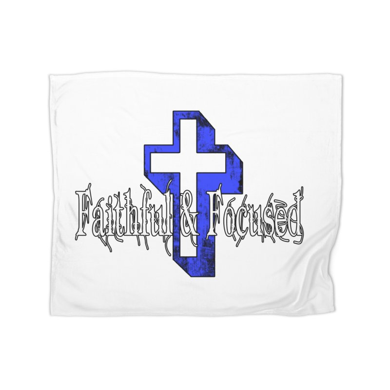 Blue Cross Home Blanket by Faithful & Focused Store