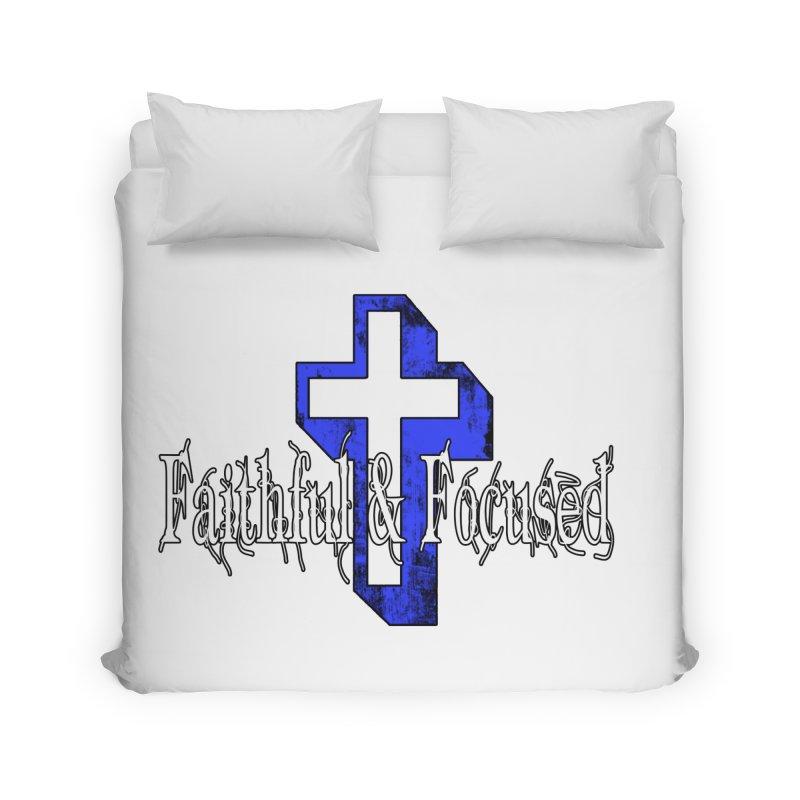 Blue Cross Home Duvet by Faithful & Focused Store